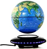 WYZXR Magnetschwebekugel, 8-Zoll-Anti-Schwerkraft-Dreh-Weltkartensphären-Licht-Berührungsschalter, Kindererziehung