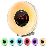 Wake Up Licht Lichtwecker Adoric Tageslichtwecker Sonnenaufgang Lichtwecker FM Radio Wecker Schlafdenlampe Zimmerlichter für Kinder & Erwachsene