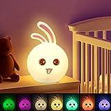 LED Nachtlicht für Kinder, CNSUNWAY LIGHTING Nachtlicht Kind USB Wiederaufladbare Silikon Baby Nachttischlampe,Touch Control, Farbwechsel Nachtlampe für Kinderzimmer,Geeignet für Kinder