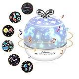 Sternenhimmel Projektor Kinder, CoPedvic 3 in 1 Bluetooth Lautsprecher LED Musik Nachtlicht Projektor mit 6 Projektionsfilmen 360° Drehbar Starry Music Lampe Sternenhimmel mit Fernbedienung Timer Baby