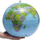 WYZXR Pädagogische Swivel Globe Swivel Globe Aufblasbare Weltkugel Erde Karte Geographie Teacher Aid Ball Spielzeug Geschenk 40 cm / 16 für Desktop Office Home Dekoration Für Schulkinder Erwachsene