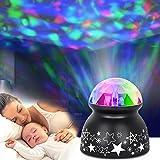sanlinkee Nachtlicht Projektor Baby Projektor Licht, LED Kinder Nachtlicht Ozeanwellen Projektor Lampe Silent Nachtlichtlampe Stimmungslicht für Baby Kinder Kinderzimmer Schlafzimmer Party Wohnkultur