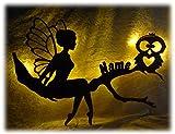 Eulendesign Wandtattoo 3d Led nachttischlampe Wand-Lampe'Eulen-Treffen', Geschenk mit Personalisierung für Erwachsene Mann Frau Opa Kind Mädchen Junge
