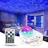 Sternenhimmel Projektor Starry Projector Light, 3 in 1 Sternenprojektor Nachtlicht mit Fernbedienung, Bluetooth-Musiklautsprecher 5 Geräusche für Schlafzimmerparty, Timing für Kinder Erwachsene