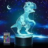 ATOPDREAM Spielzeug 2-10 Jahre Junge,Nachtlicht Kinder Kleinkind Spielzeug ab 2-6 Jahre 3D Lampe Spielzeuge 3-8 Jahre Junge Geschenke ab 2-10 Jahre Junge Mädchen Nachttischlampe(Tyrannosaurus)