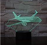 ADIS 3D Nachtlicht für Kinder Flugzeug Illusion Lampe 7 Farben ändern Schlafzimmer Dekor Lampe mit Fernbedienung für Kinder Geburtstagsgeschenke für Jungen Mädchen