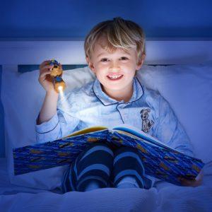 Kind mit Paw Patrol Nachtlicht
