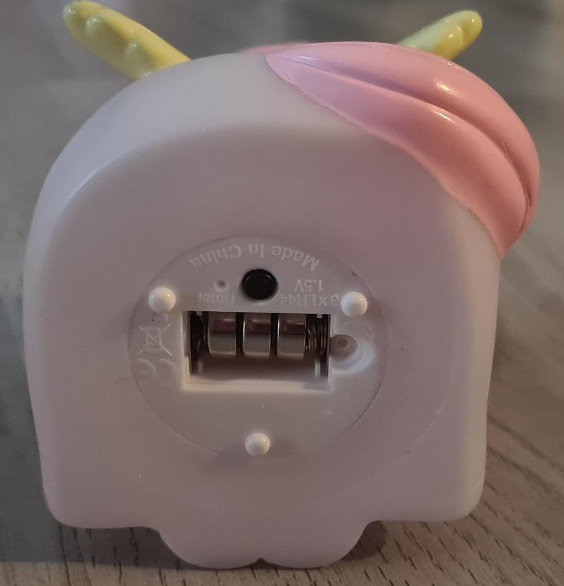 Einhorn Lampe a little love company Batterie Fach