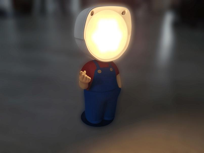 ALUOCYI Mini Cartoon Style Nachtlicht leuchtend