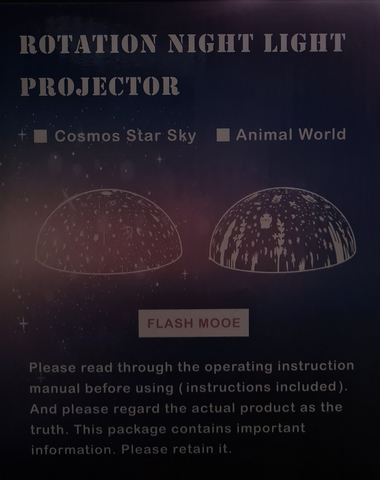 Unboxing Sternenhimmel Projektor Rückseite