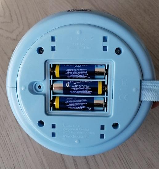 Chicco Nachtlicht Sternenhimmelprojektor Batteriefach