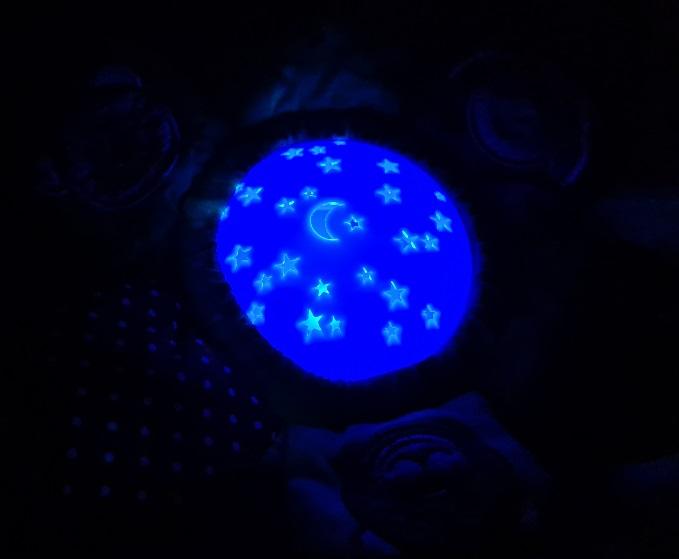 ministeps Licht leuchtend blau