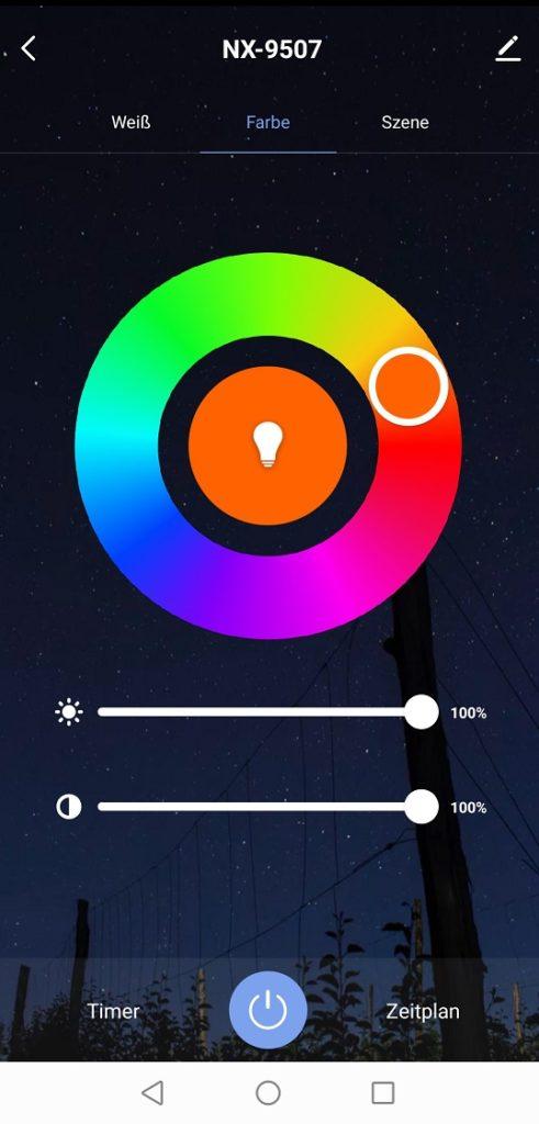 Elesion App Farbeneinstellung