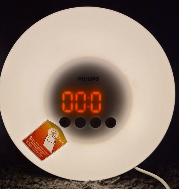 Licht-Funktion Wake-Up mit Uhr
