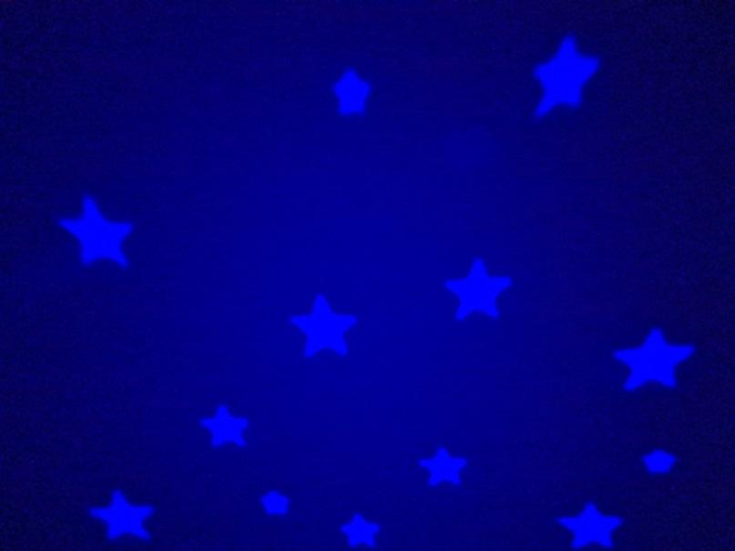 Mein erstes Nachtlicht blauer Sternenhimmel